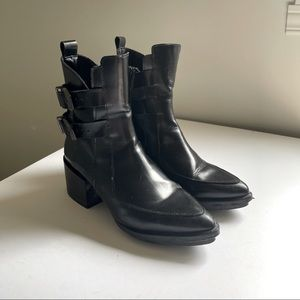 Zara leather black boots